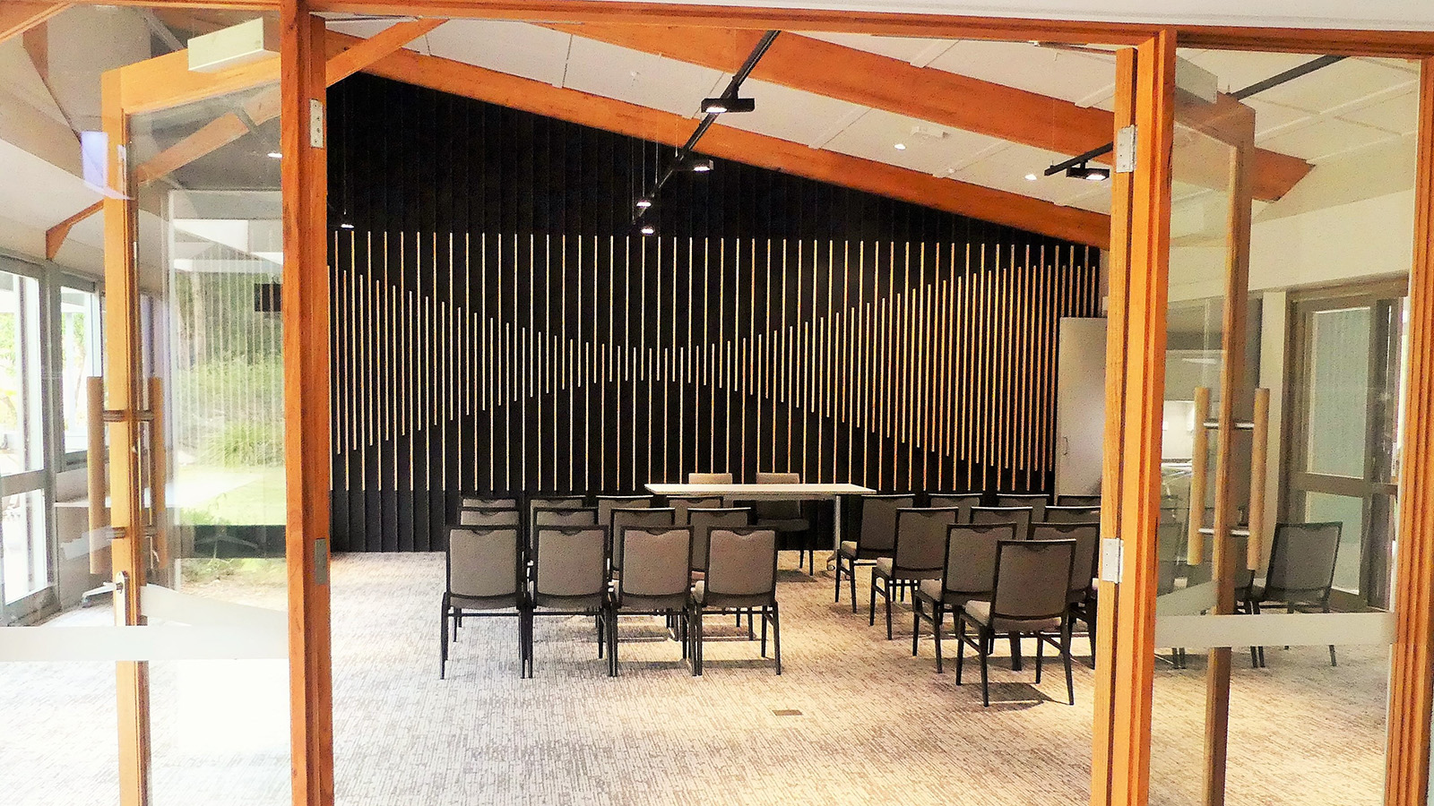 A basic ceremony/audience style seating arrangement in the Banksia Room